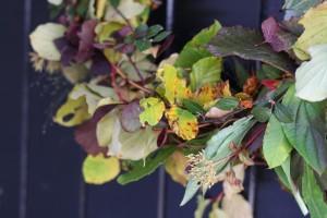 Autumn leaves foilage wreath