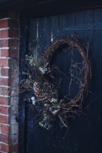 Midwinter dried door wreath