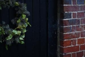 Old mans beard clematis winter wreath