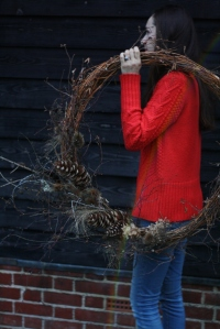 Over sized dried midwinter wreath